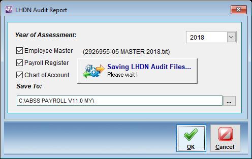 saving lhdn audit file